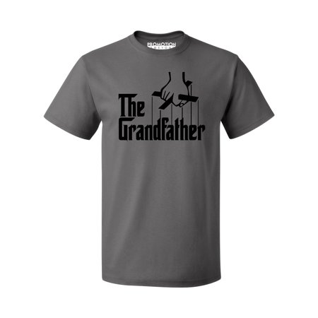 The Grandfather Funny Father's Day Gift Men's T-shirt, Charcoal, L - Father's Day Stuff