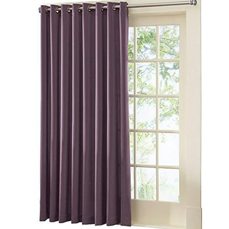 Gramercy Patio Door Grommet Top Curtain Panel Plum