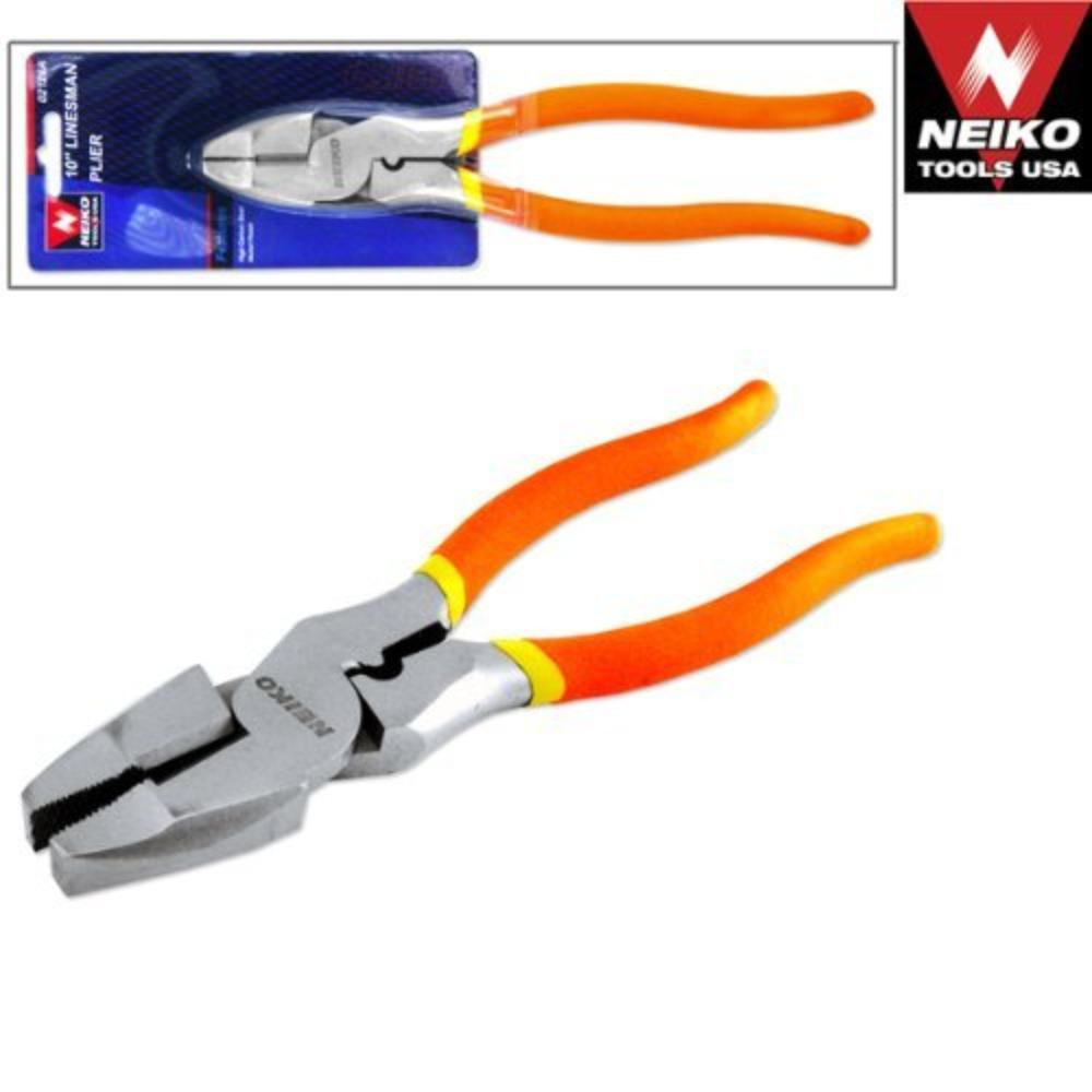 "PLIER LINESMAN 10"",NI-FE FINIS, *Drop Forged By Neiko"
