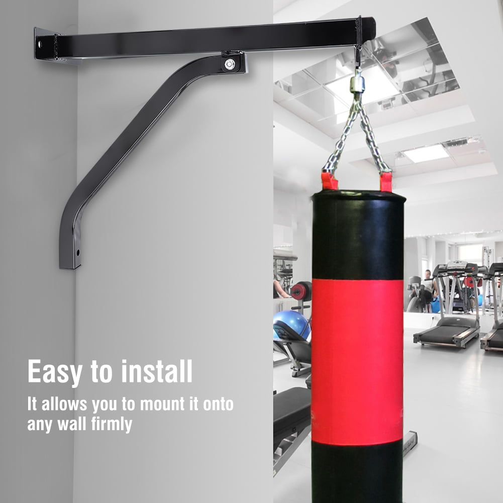 Punching Bag Boxing Wall Bracket Heavy Duty Steel Mount Hanging Stand Blue