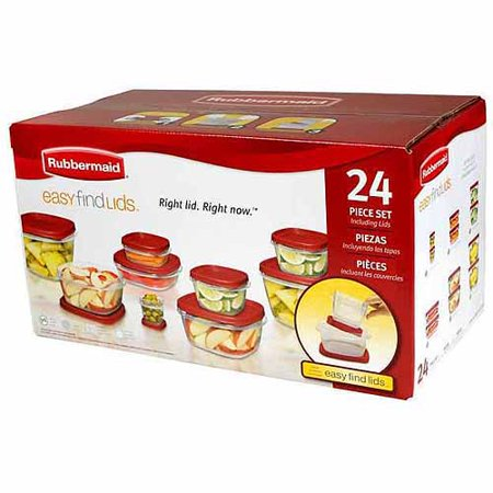 Rubbermaid Easy Find Lids Food Storage Container Set 24