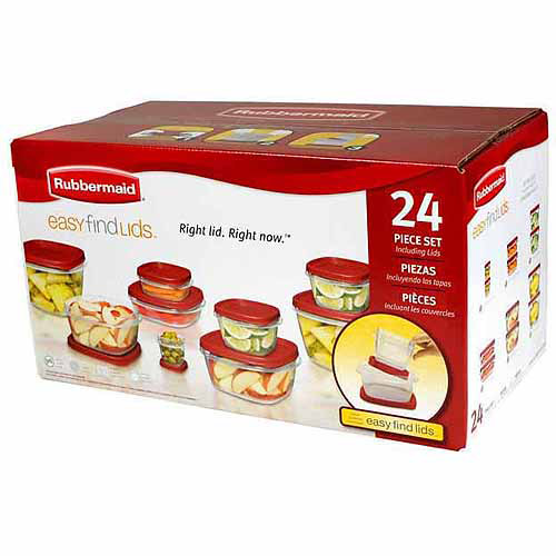 Rubbermaid Easy Find Lids Food Storage Container Set, 24-Piece