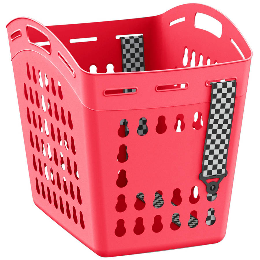 United Solutions Hamper 1.5 Bushel Laundry Tote, Coral Fire