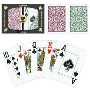 """Copag 1546 Poker Green Burgundy Jumbo"" by BryBelly"
