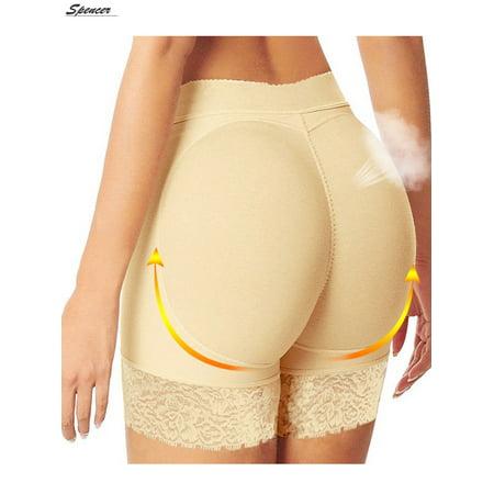 e4f126937 Spencer Women Sexy Padded Underwear Fake Buttock Briefs Lifter Hip Enhancer  Lace Underwear