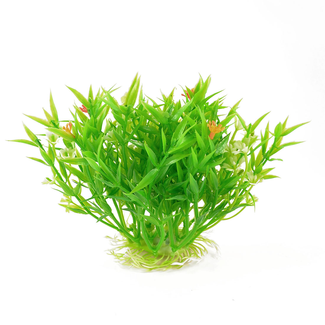 "Unique Bargains 5.5"" Fishbowl Aquascaping Decor Green Orange Artificial Water Grass Plant"