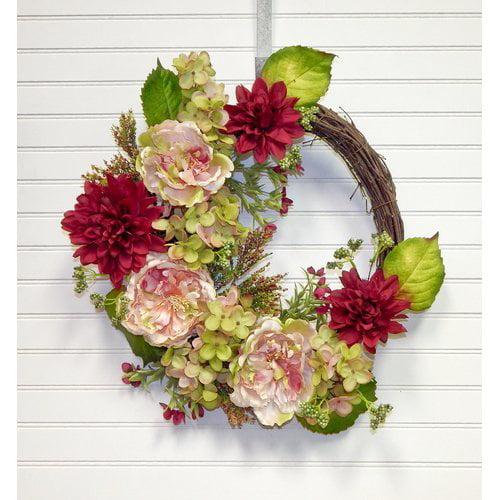 Darby Home Co 22'' Hydrangea Wreath