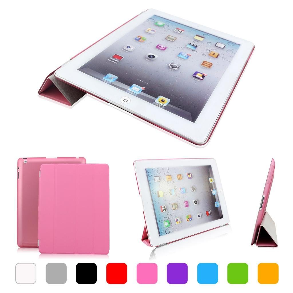 iPad 2/3/4 Case cover, CoastaCloud Magnetic PU leather Ultra-thin Smart Cover + Hard Back Case For Apple iPad 2/3/4 Smart Case & Cleaning Cloth & Screen Protector & Stylus Touch Pen
