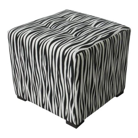 Swell Sole Designs Black White Stripe Print Tufted Ottoman Camellatalisay Diy Chair Ideas Camellatalisaycom