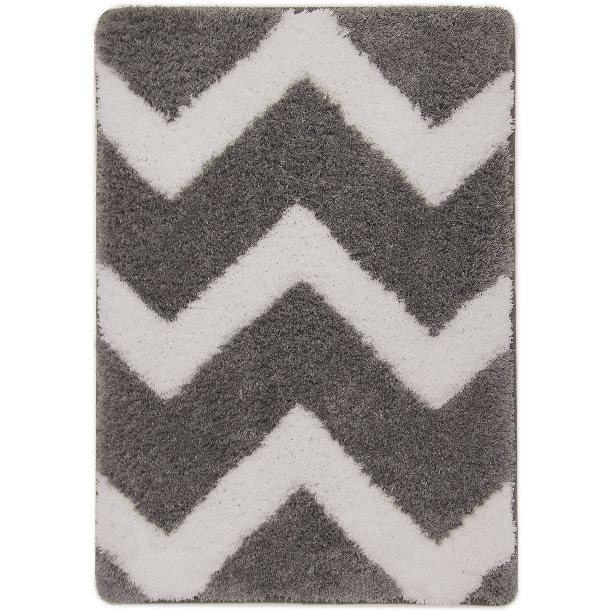 Mainstays True Color Memory Foam Bath Rug, Grey Flannel