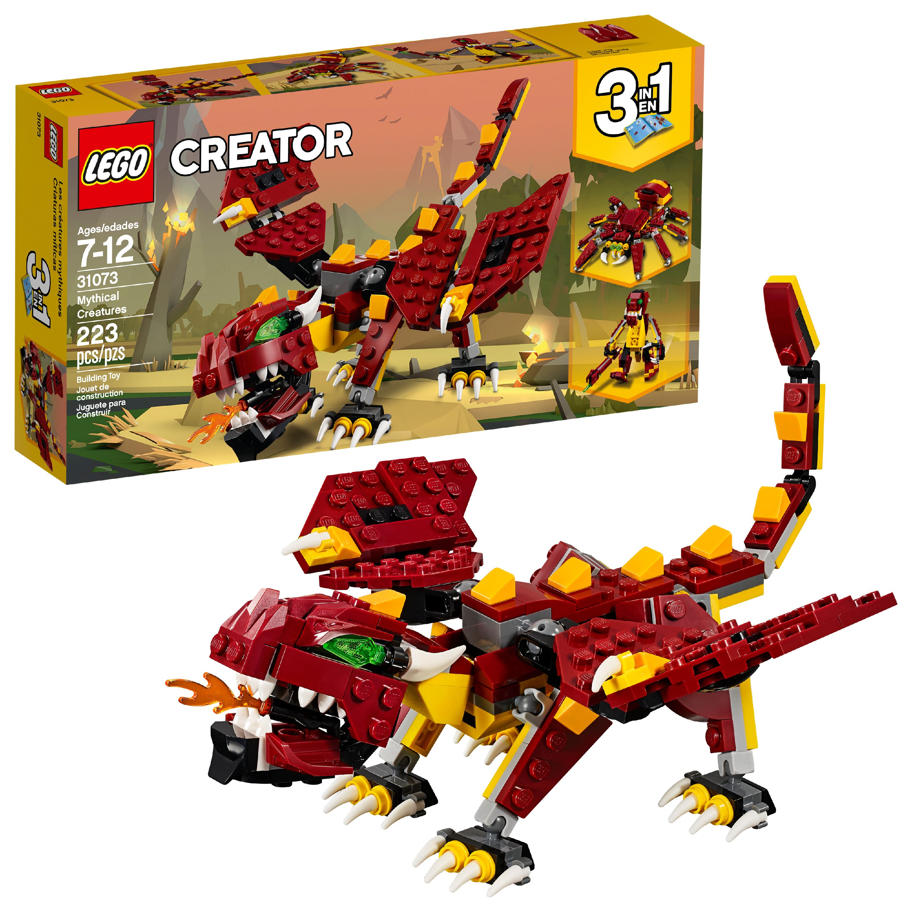 LEGO Creator 3in1 Mythical Creatures 31073 (223 Pieces)