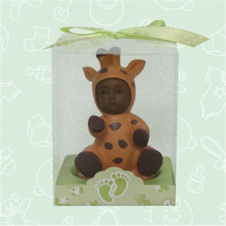 Baby Shower Ethnic Baby in Safari Giraffe Outfit