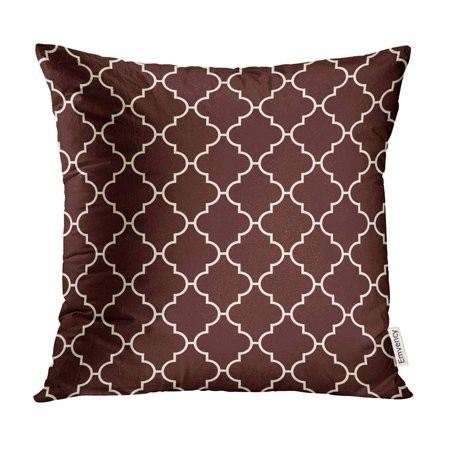 BOSDECO Oriental Traditional Pattern Ogee Maroccan Crosses Mosaic Tiles Lantern Shapes Tracery Pillow Case Pillow Cover 16x16 inch - image 1 of 1