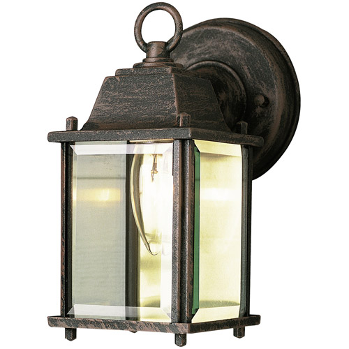 "BelAire Glass Door 8"" Patio Light, Rust"