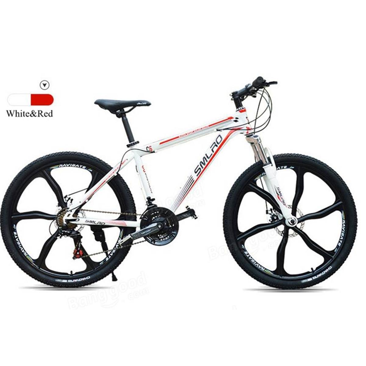 SMLRO 26inch Men's Mountain Bike 21 Speed High Carbon Ste...