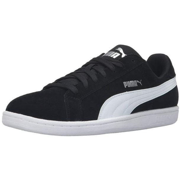 PUMA Men's Smash v2 Sneaker (Puma Black/Puma White, 9 M US)