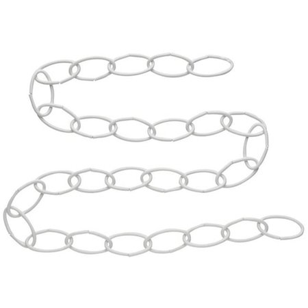- 36 in. Extension Chain Plant Hardware Accessories N275-016, White