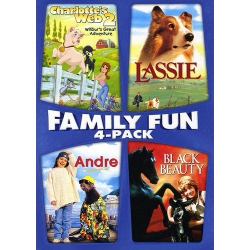 Family Fun Four-Pack Collection: Andre / Black Beauty / Charlotte's Web 2: Wilbur's Great Adventure / Lassie (Widescreen)