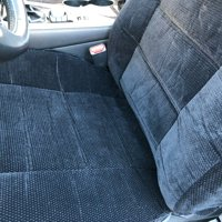 Thick Heavy Protective Smooth Textured 4pc Front 2 Deluxe Semi Custom Fit Low Back Bucket Black Seat Cover