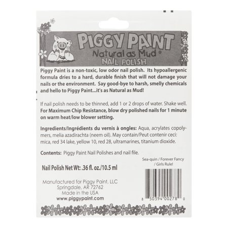 Piggy Paint Natural as Mud Nail Polish - Walmart.com