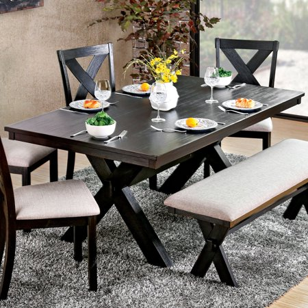 Furniture Of America Jeren Transitional X Base Dining Table