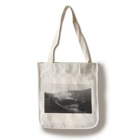 - Avcata, California - View of a Mill and Railroad Tracks (100% Cotton Tote Bag - Reusable)