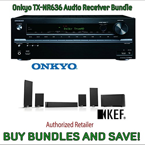 Onkyo TX-NR636 7.2-Channel Network A V Receiver & KEF T205 5.1 Home Theater System by Electronics Expo