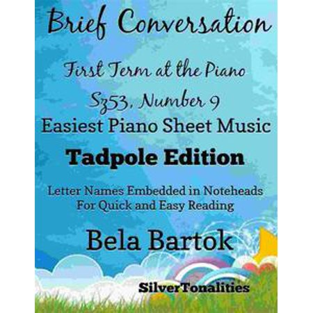 From Bela Bartok's First Term at the Piano Sz53, Number 8 Easy Note Style Tadpole Edition - eBook - This Is Halloween Notes Piano