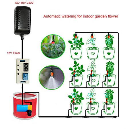 New Automatic Watering System Timer Device for Home Indoor Balcony on indoor herb growing systems, indoor plant arrangements, indoor hydroponic plant systems, indoor garden lights, indoor fort kits, indoor hydroponic growing systems,