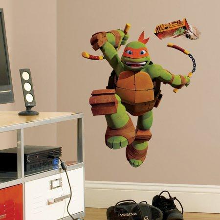 Teenage Mutant Ninja Turtles Mike Peel and Stick Giant Wall Decals (Ninja Turtle Decals)
