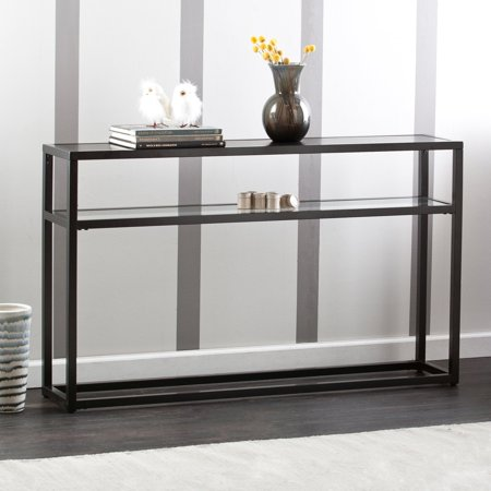 Holly and Martin Baldrick Console Table, Glass/Black