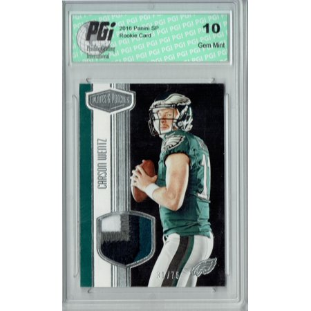 Carson Wentz 2016 Panini Plates Patches Rmcw 4 Clr 75 Made Rookie Card Pgi 10 Walmartcom