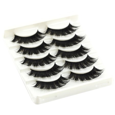 a16abf1bc41 5 Pairs Multi-layer False Eyelash Long Black Thick Fake Lashes Natural Soft Makeup  Eye Lashes Cross Handmade False Eyelash - Walmart.com
