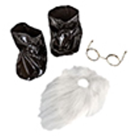 Santa's Beard, Boots, and Glasses Set Fits Most 14