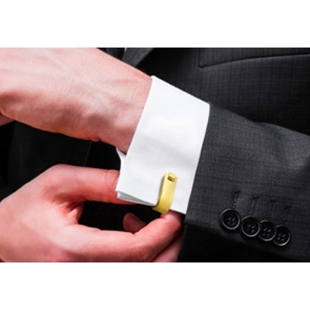 Octavius Stainless Steel Yellow Gold French Cufflinks