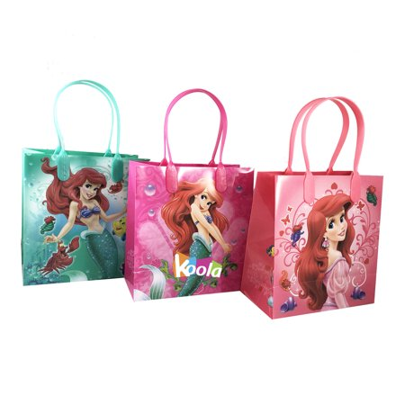 3pc Disney Little Mermaid Ariel Goodie Party Favor Gift Birthday Loot Bags - The Little Mermaid Birthday