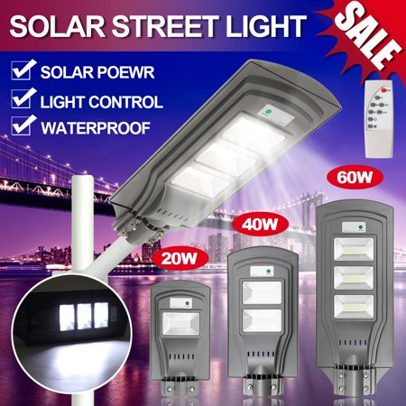 Solar Light Lights Outdoor Super Bright 60w Remote Control Waterproof Ip67 Wall Garden Lights Street Area Lighting Dusk To Dawn Courtyard Deck Night Lights With Without Pole Walmart Canada