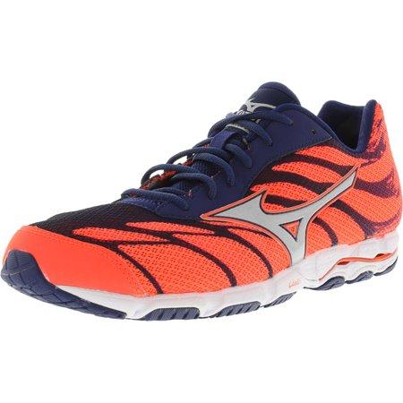pretty nice 91de3 b4219 Mizuno Women's Wave Hitogami 3 Orange / Silver Blue Ankle-High Running Shoe  - 10.5M