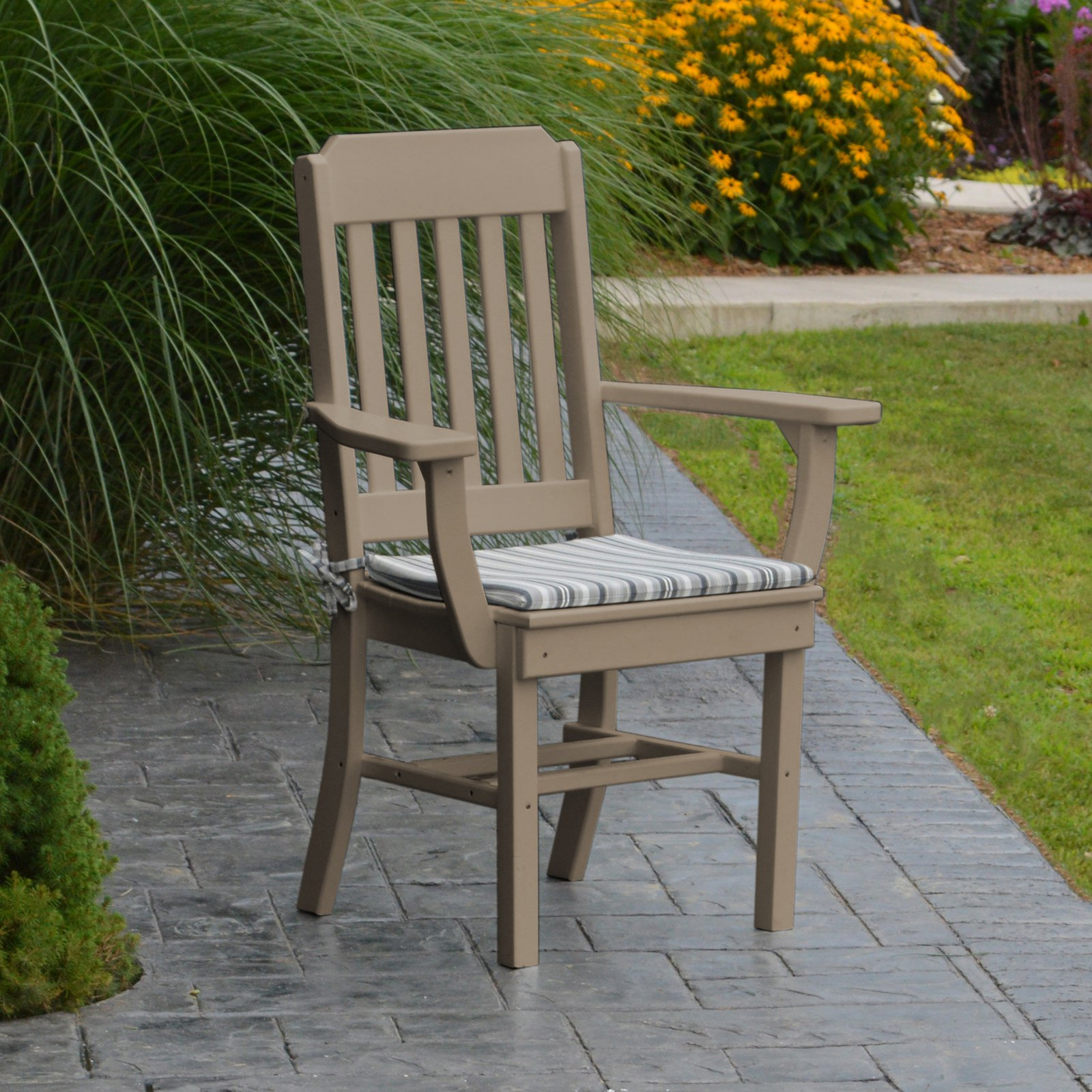 A & L Furniture Poly Traditional Outdoor Dining Armchair by A&L Furniture
