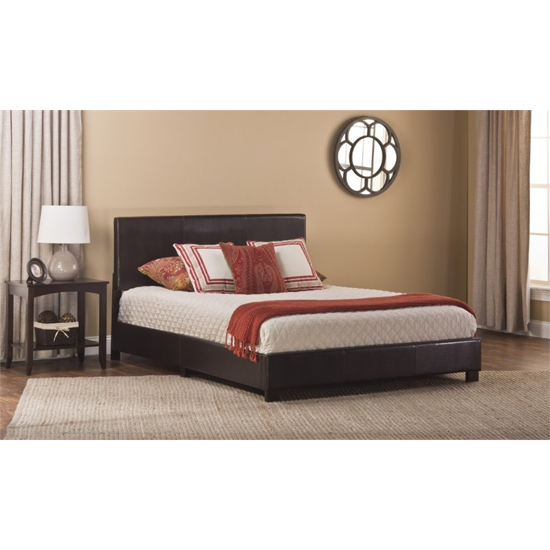 Hillsdale Furniture Hayden Faux Leather Platform Bed, Brown, Multiple Sizes