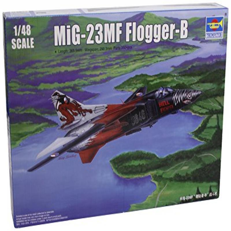 Trumpeter Mig-23MF Flogger-B Russian Fighter Airplane Model Building Kit, Scale 1/48