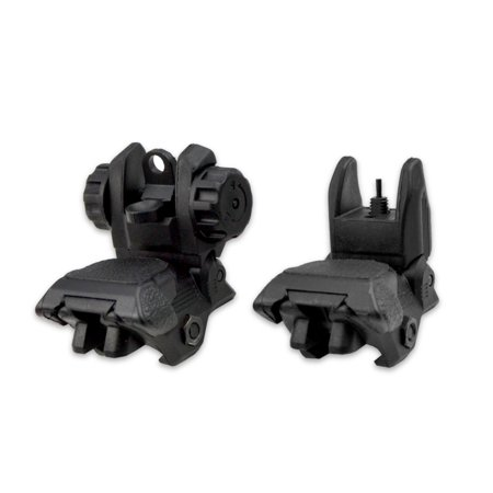 Sniper Flip-Up Back-up Sight Set, Front and Rear, Polymer,