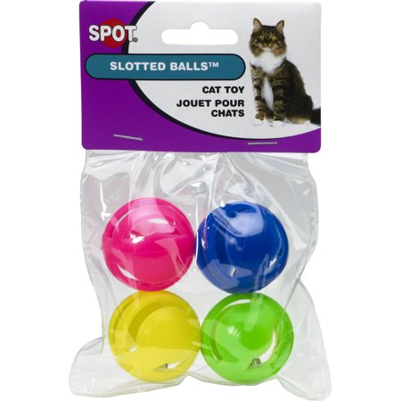(2 Pack) Slotted Balls with Jingle Bells Cat Toy (Pack Cat Balls)