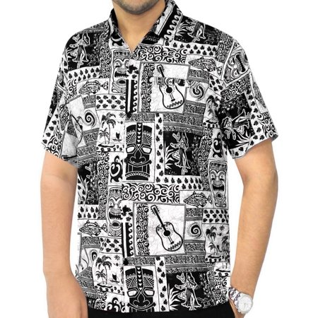 585b03f10 HAPPY BAY - Hawaiian Shirt Mens Beach Aloha Camp Party Casual Holiday Short  Sleeve Guitar Print Cotton A - Walmart.com