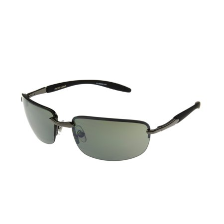 Foster Grant Men's Gunmetal Rectangle Sunglasses II01 ()
