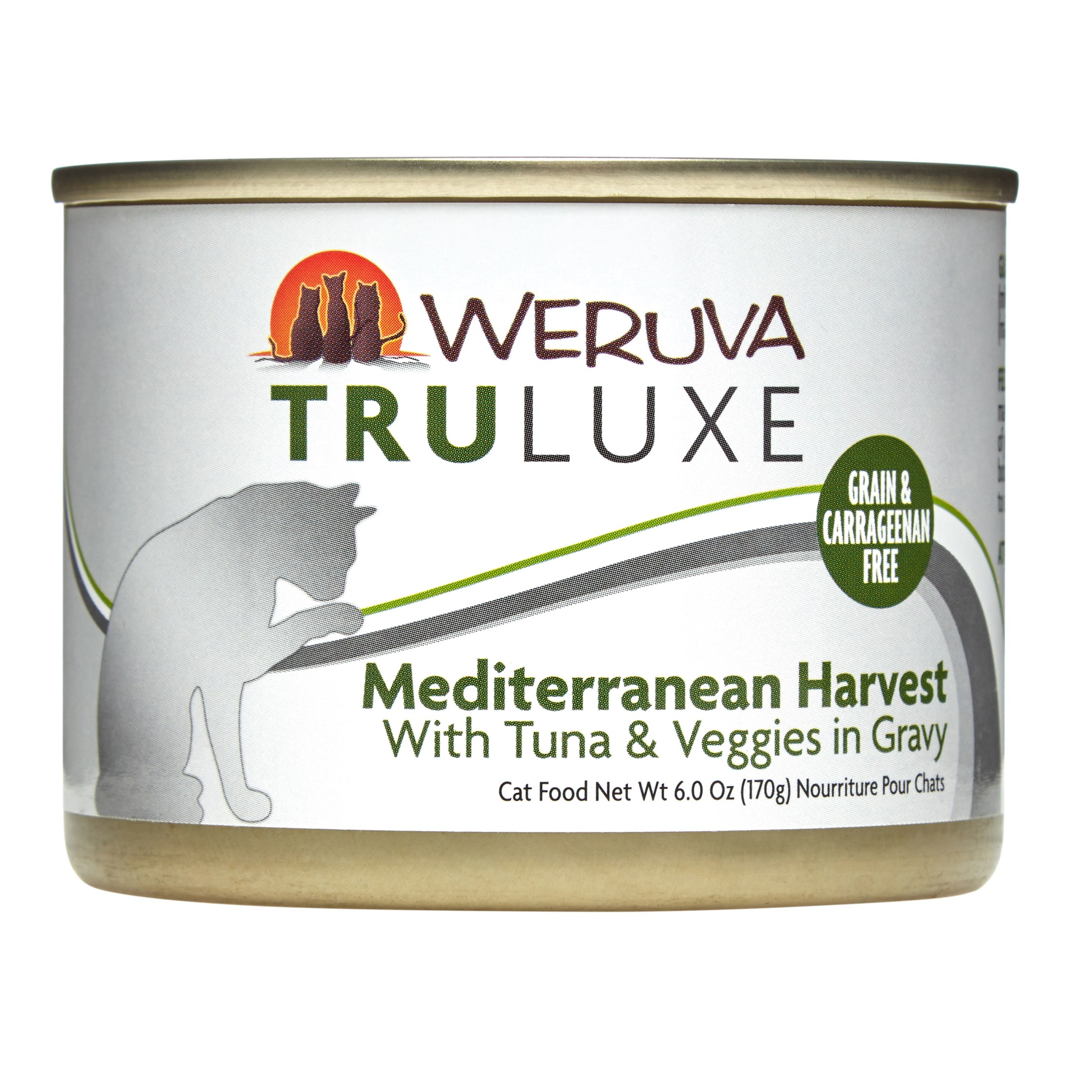 Weruva TruLuxe Grain-Free Mediterranean Harvest with Tuna & Veggies Wet Cat Food, 6 Oz