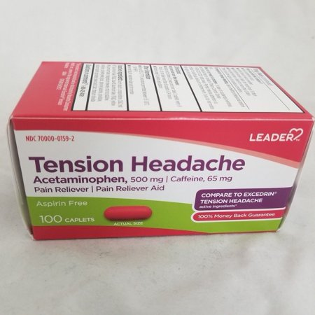 Leader Tension Headache Caplets, 100ct