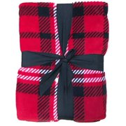 HD Designs Microplush Red Plaid Twin Full Bed Blanket, Fleece Bedding