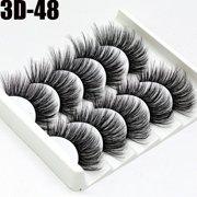 5 Pairs 3D Natural False Eyelashes Long Thick Fake Eye Lashes Makeup Mink (D55)