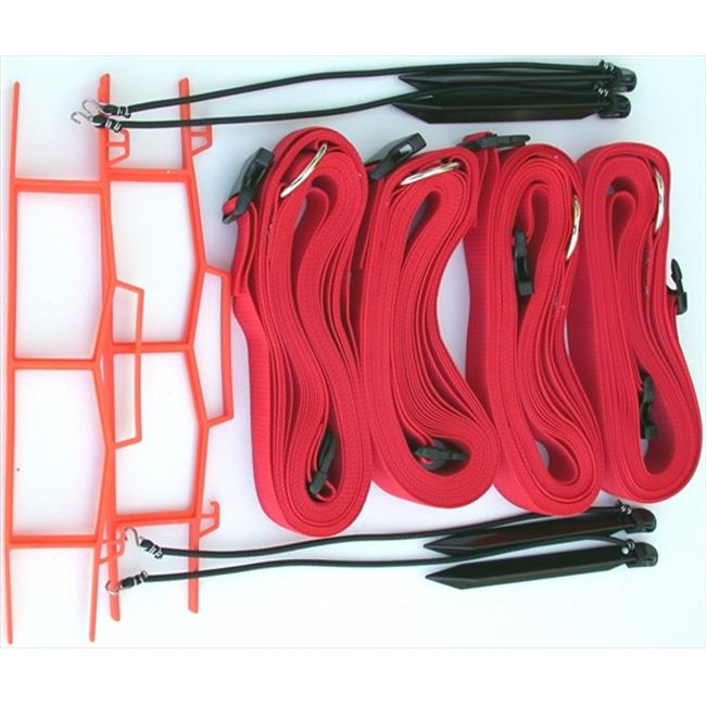 Home Court M819ARS 8 Meter Red 2-inch Adjustable Web Courtlines